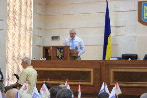Виступ на сесії Одеської облради П'ятигорця С.